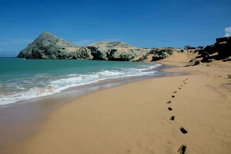 Praia de Punta Gallinas em La Guajira na Colômbia