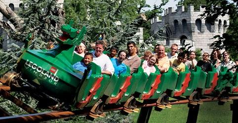 Montanha-russa na Legoland em Windsor