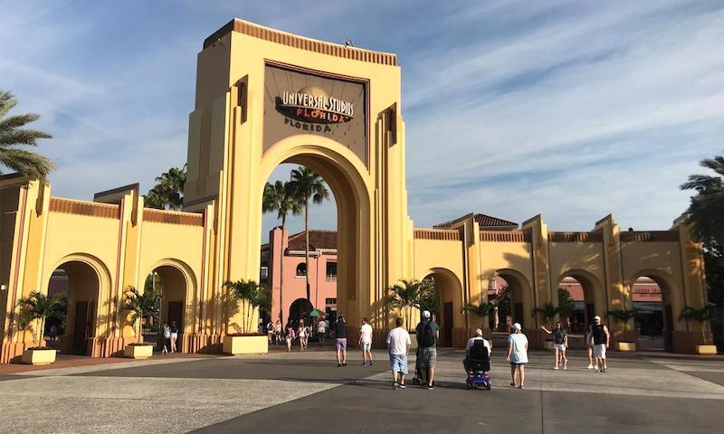 Entrada do parque Universal Studios em Orlando