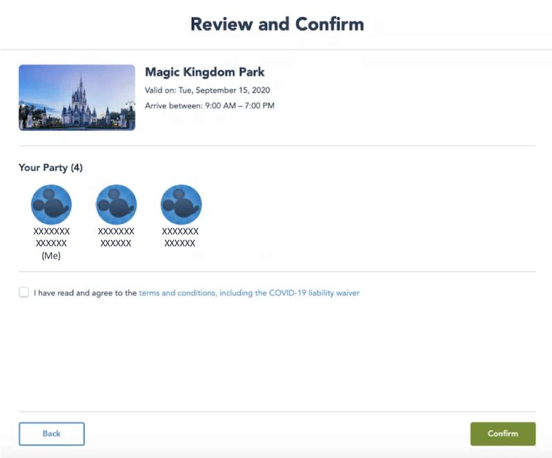 Como reservar sua visita aos parques da Disney Orlando: passo 4