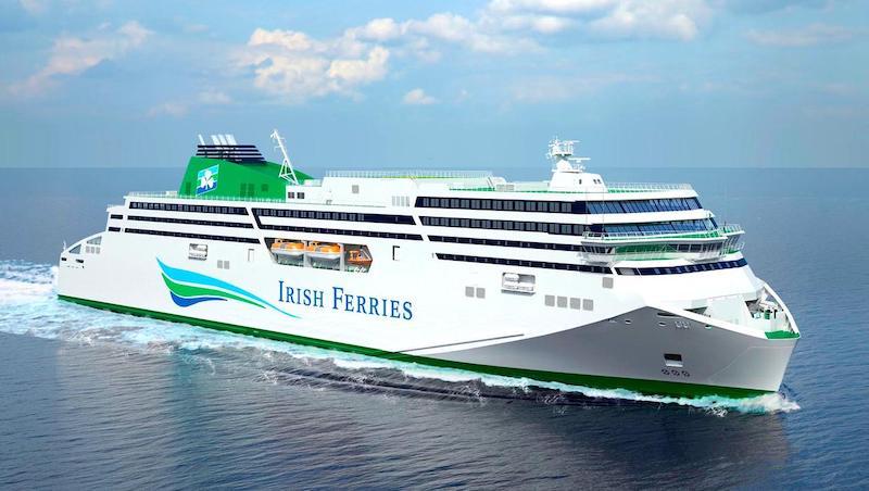 Viagem de ferry boat na Irlanda