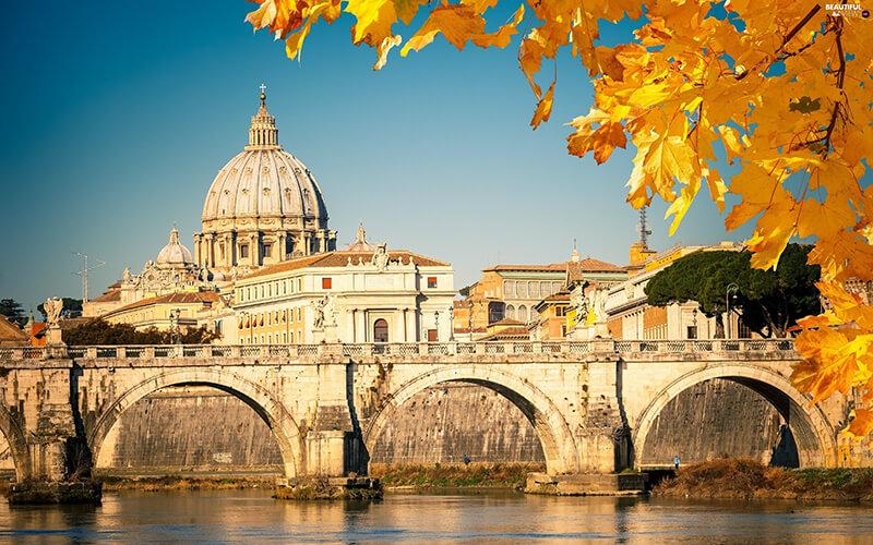 Outono na cidade de Roma