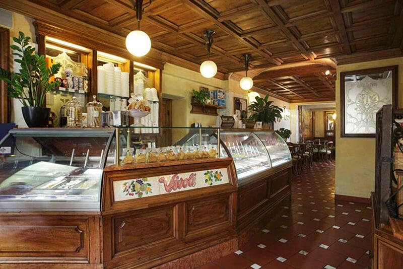 Loja da Gelateria Vivoli em Florença