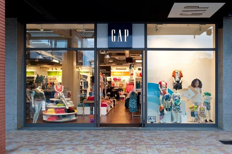 Loja da GAP no Vicolungo Outlets em Milão