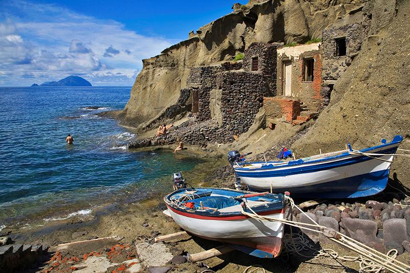 Ilha de Salina na Itália