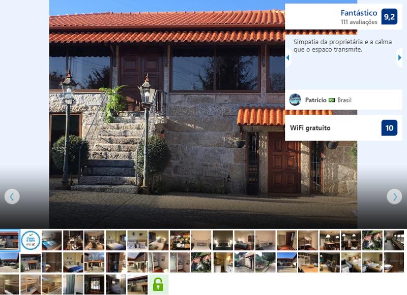 Fachada do Hostel BERGUI Guesthouse em Guimarães