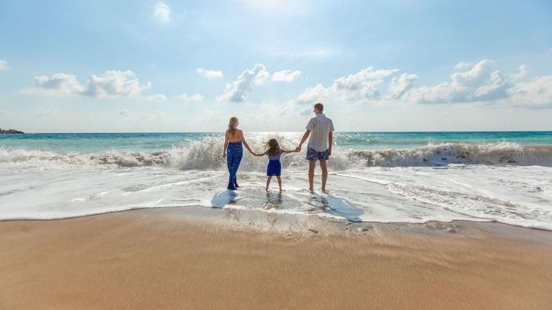 Famílias no Algarve