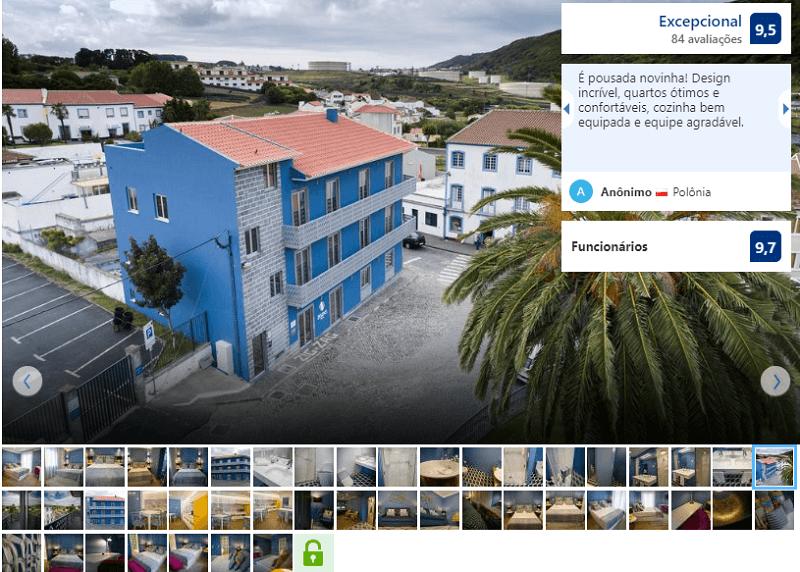 Fachada do ZIGZAG Hostel em Açores