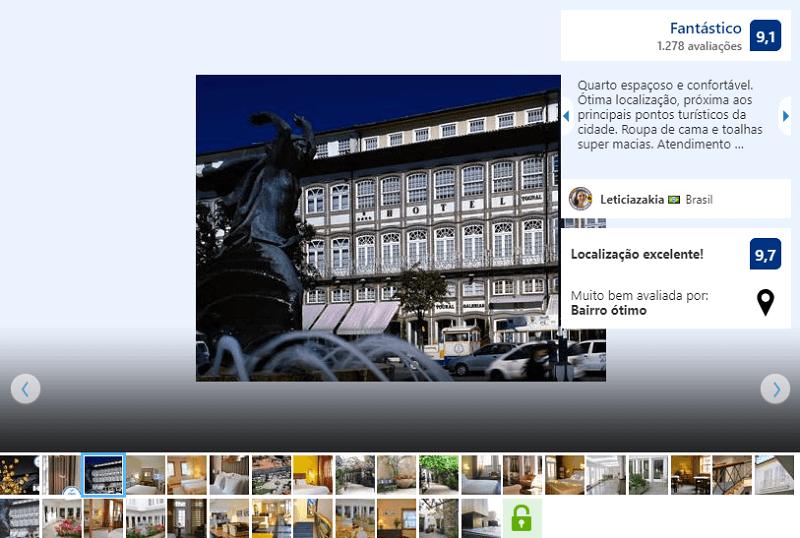 Fachada do Hotel Toural em Guimarães