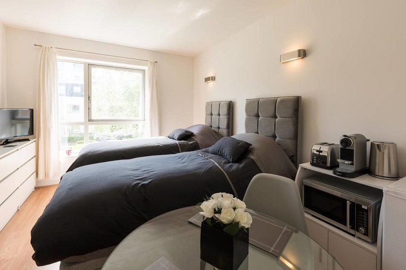 Quarto do Private Studio Apartment, O2 Arena North Greenwich