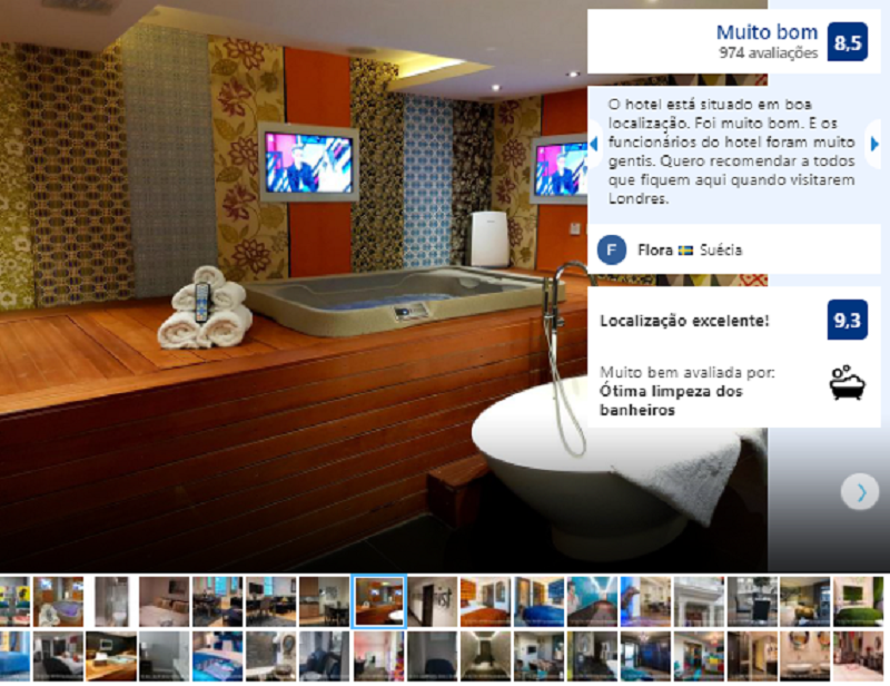 Banheiro do The Exhibitionist em Londres