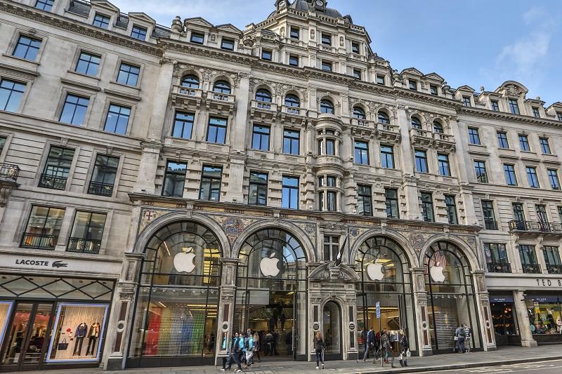Edifício da loja Apple na Regent Street