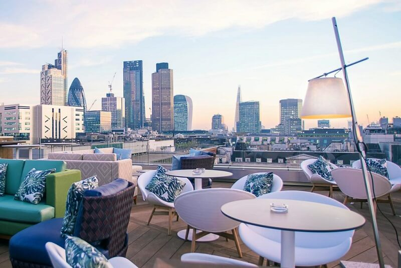 Terraço do Hotel Montcalm Royal London House-City