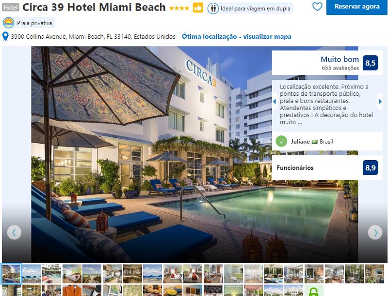 Fachada do Hotel Circa 39 em Miami