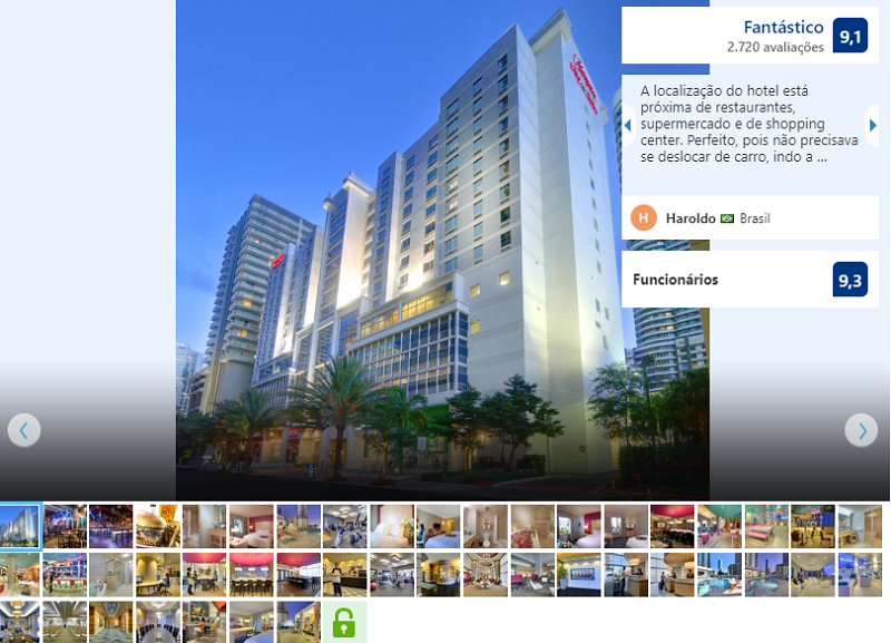 Fachada do Hampton Inn & Suites by Hilton em Miami