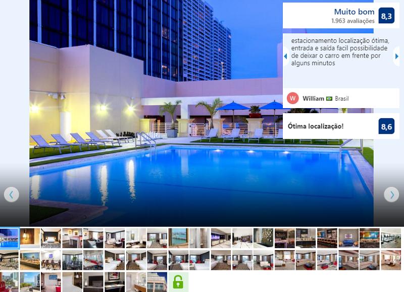 Piscina do hotel Hilton Downtown em Miami