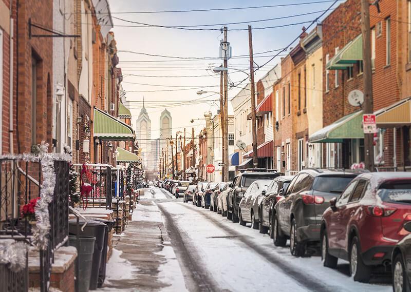 O que fazer com neve na Filadélfia