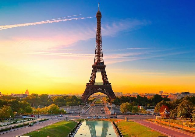 Paisagem da Torre Eiffel em Paris