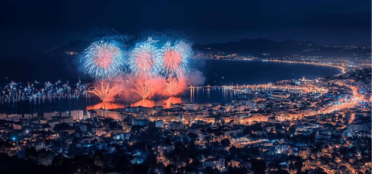Fogos de artifício em Cannes