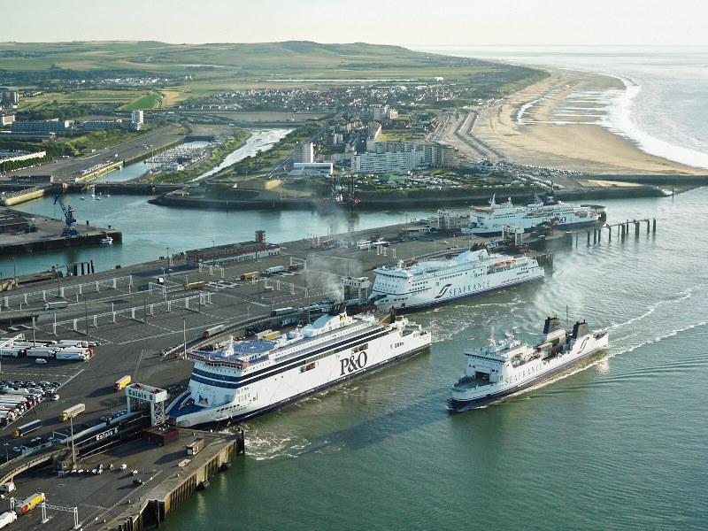 Porto de ferries na França