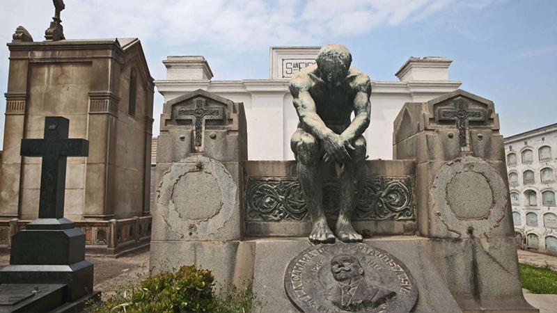 Arte do do Cemitério Presbítero Maestro em Lima