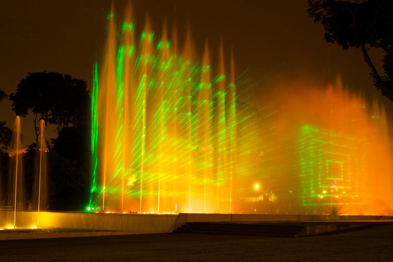 Luzes do Circuito Mágico das Águas em Lima