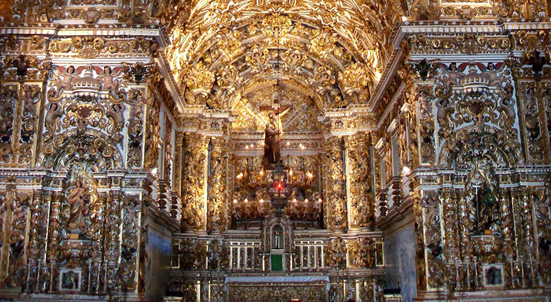 Interior do Convento de São Francisco em Lima