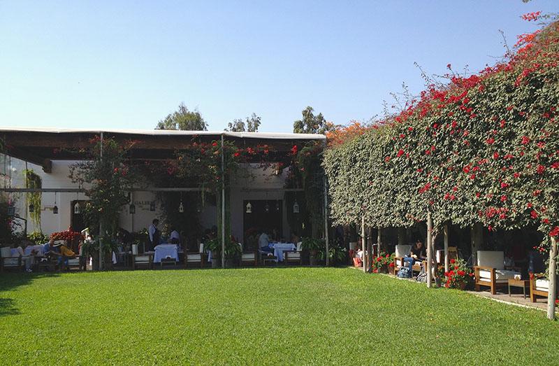 Restaurante do Museu Larco em Lima