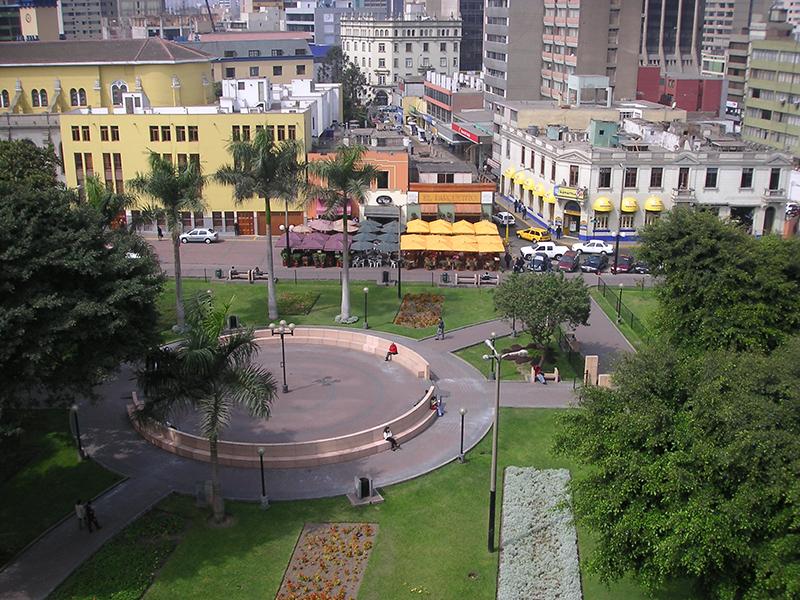Parque Kennedy em Miraflores