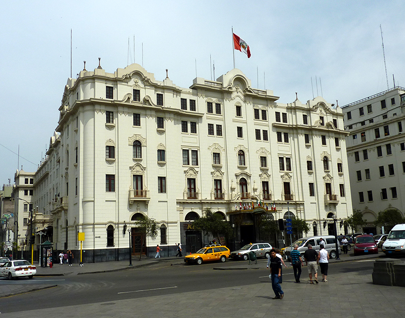 Edifício do Gran Hotel Bolivar em Lima