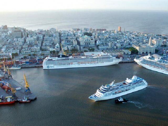 Principais destinos de ferry em Montevidéu