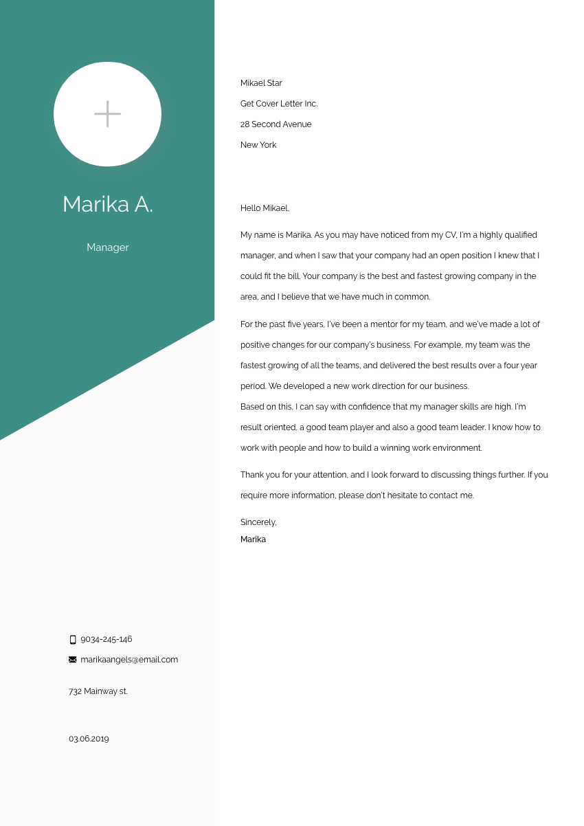 Retail Manager Cover Letter Sample & Template 2020 ...