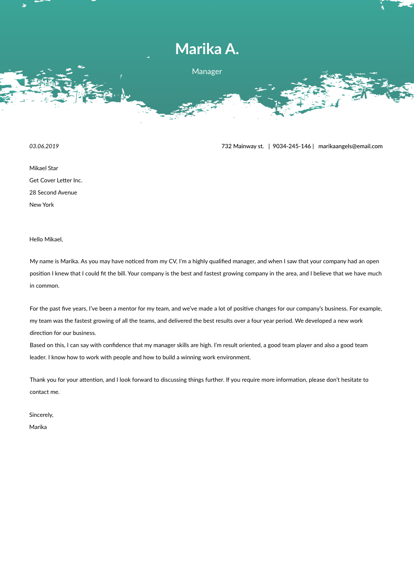 Key Account Manager Cover Letter Sample & Template 2019 ...