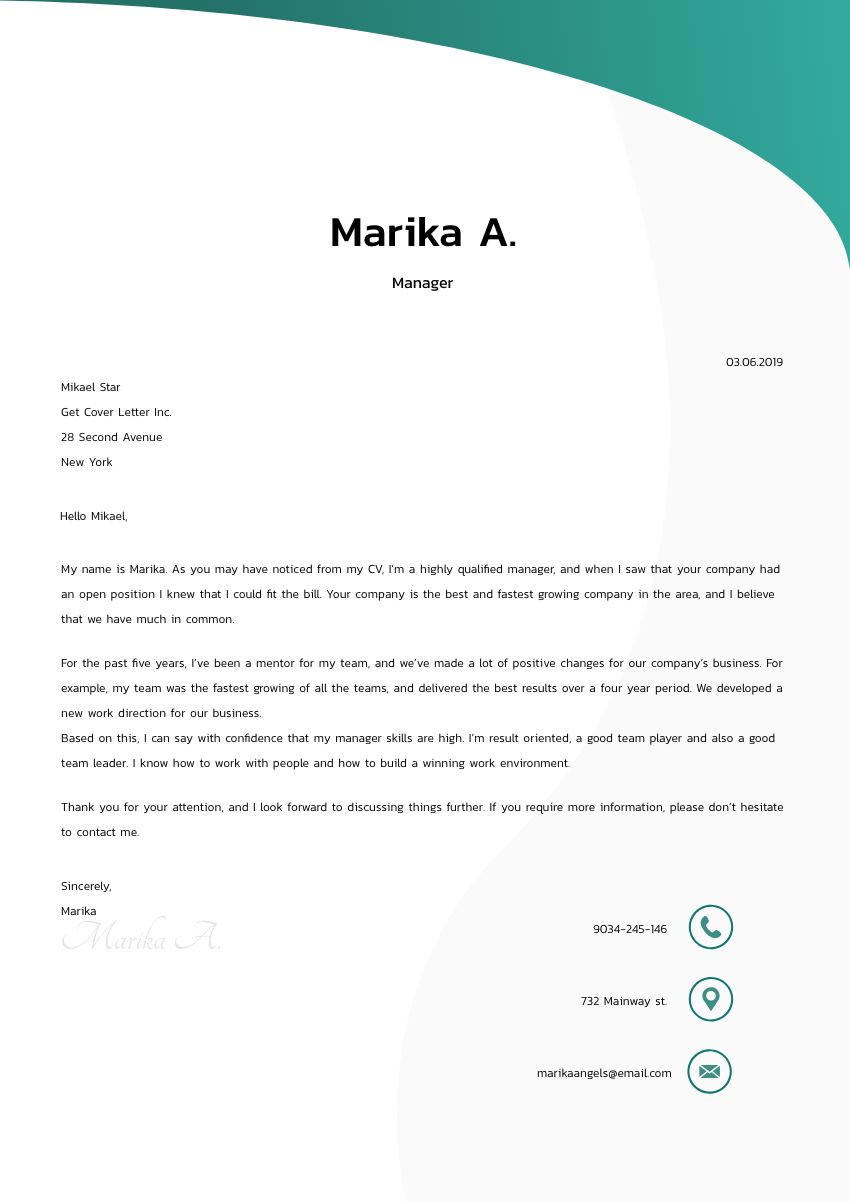 Director of Operations Cover Letter Sample & Template 2020 ...