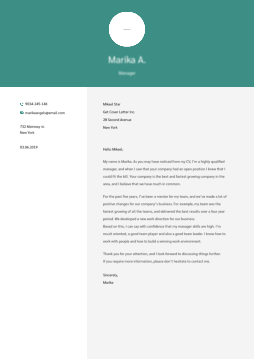 Template of a best cover letter for flight attendant