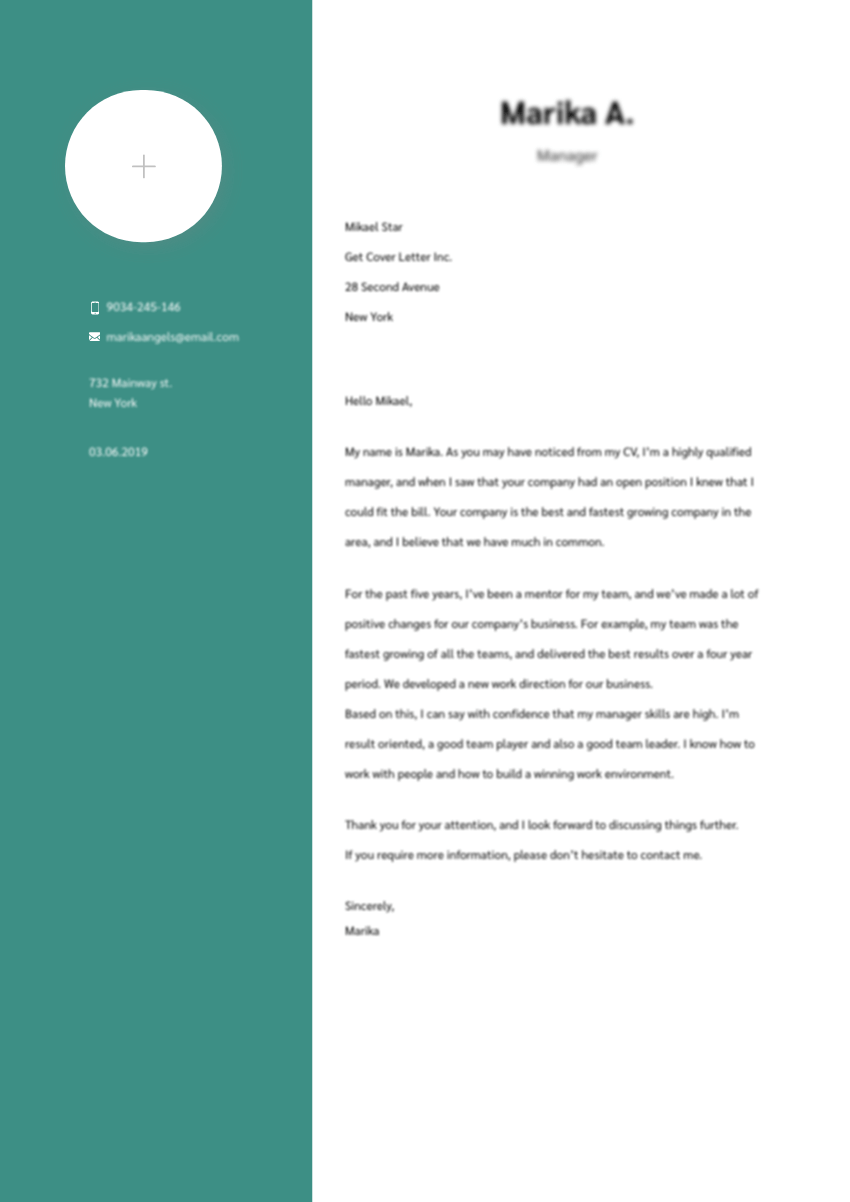 Template of an Engineering Cover Letter