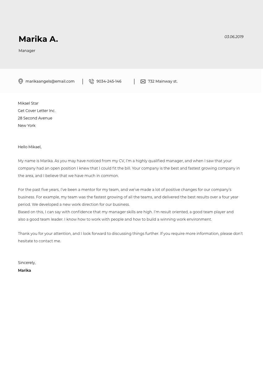 Template of a cover letter for legal assistant position