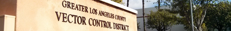 overview about the Greater Los Angeles County Vector Control District