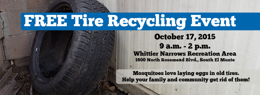 Free Tire Recycling On 10 17 At Whittier Narrows