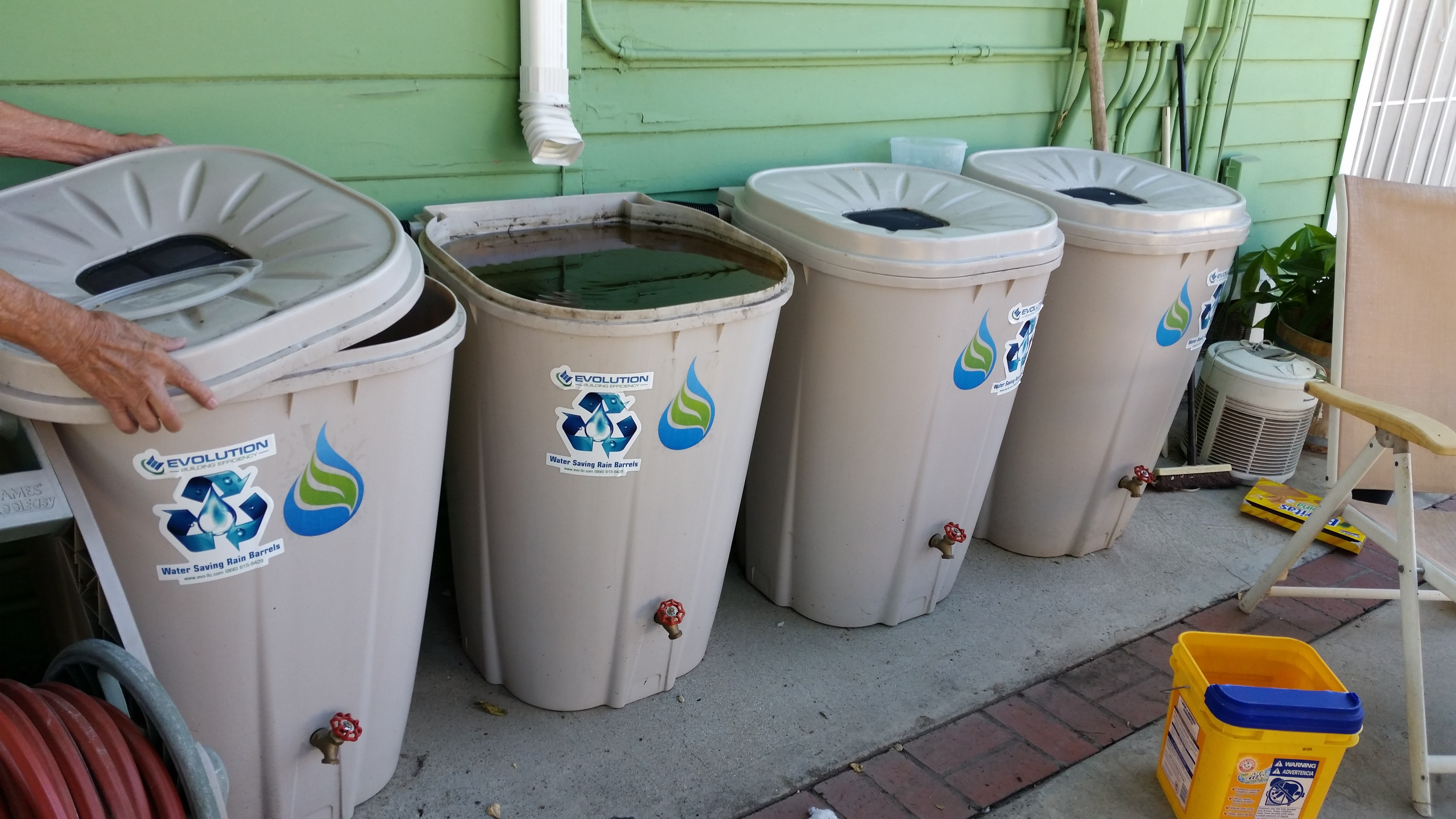 Rain Barrels neglected