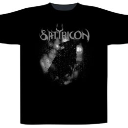 Satyricon Shortsleeve T-Shirt Black Crow On A Tombstone