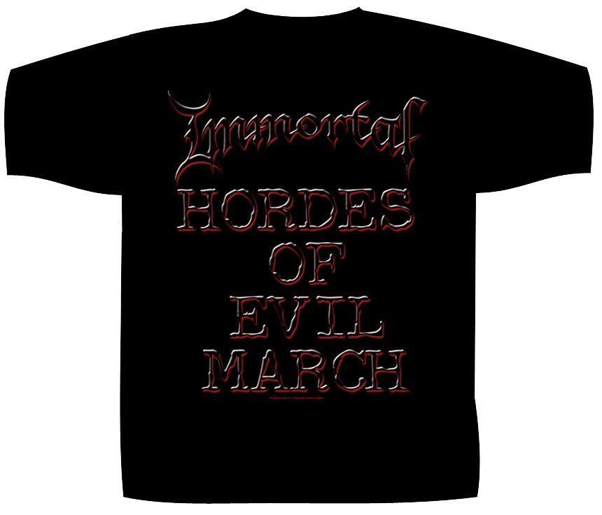 Immortal Shortsleeve T-Shirt Damned In Black