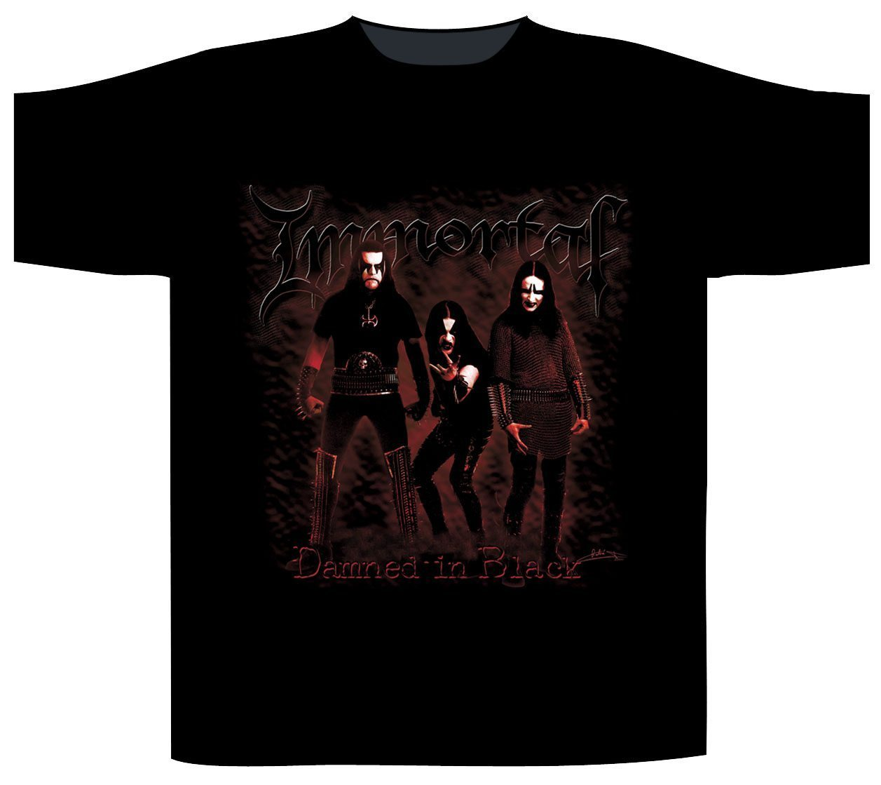 Immortal Shortsleeve T-Shirt Damned In Black