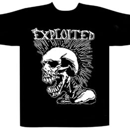 The Exploited Shortsleeve T-Shirt Mohican Skull