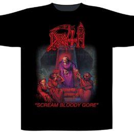 Death Shortsleeve T-Shirt Scream Bloody Gore