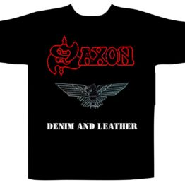Saxon Shortsleeve T-Shirt Denim And Leather