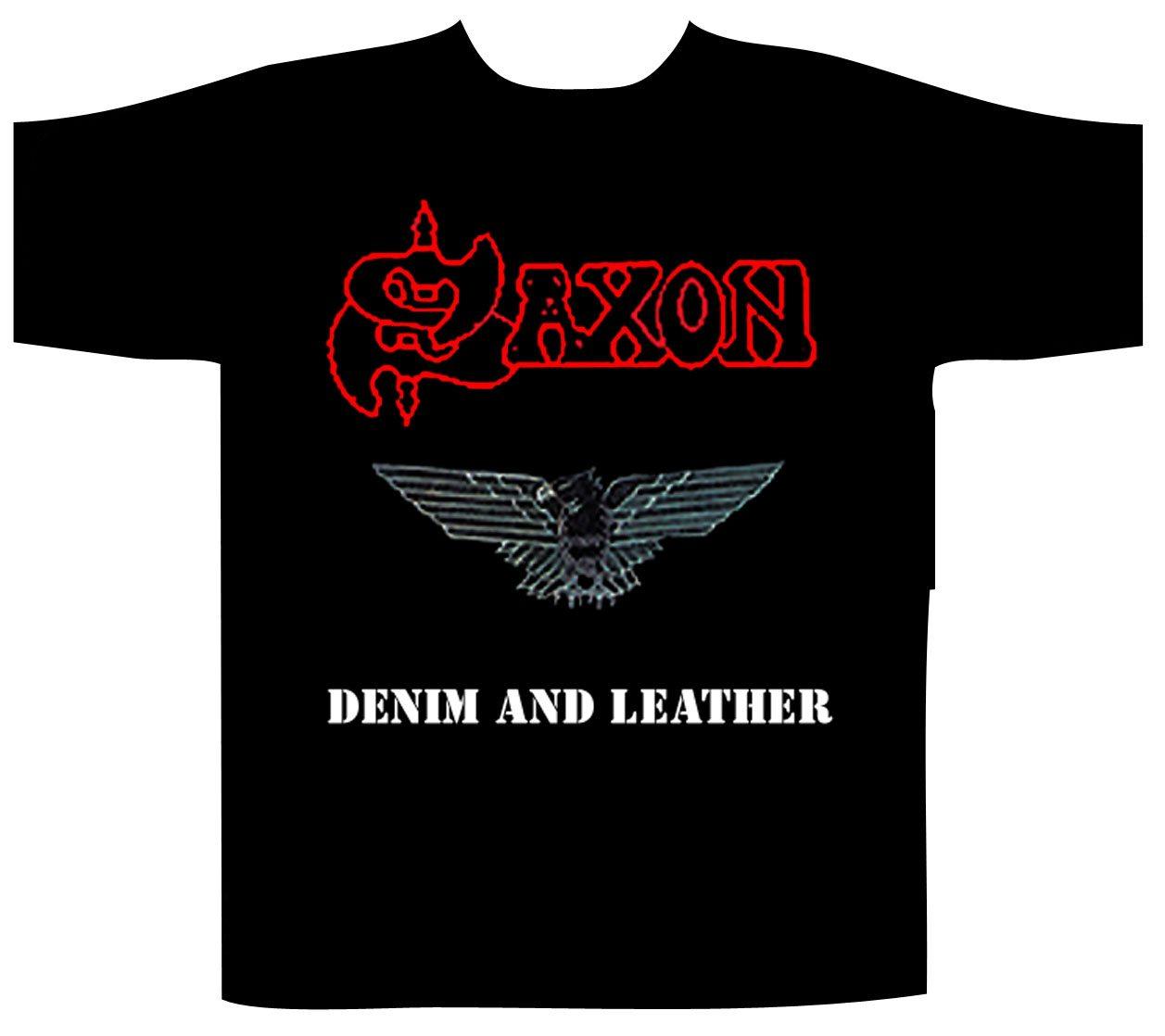 Saxon Shortsleeve T-Shirt Denim And Leather
