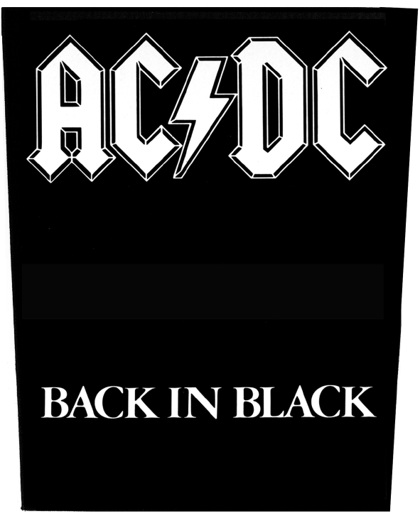 AC/DC Backpatch Back In Black