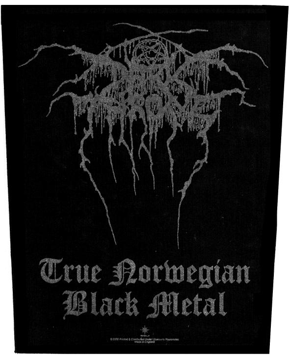 Dark Throne Backpatch True Norwegian Black Metal