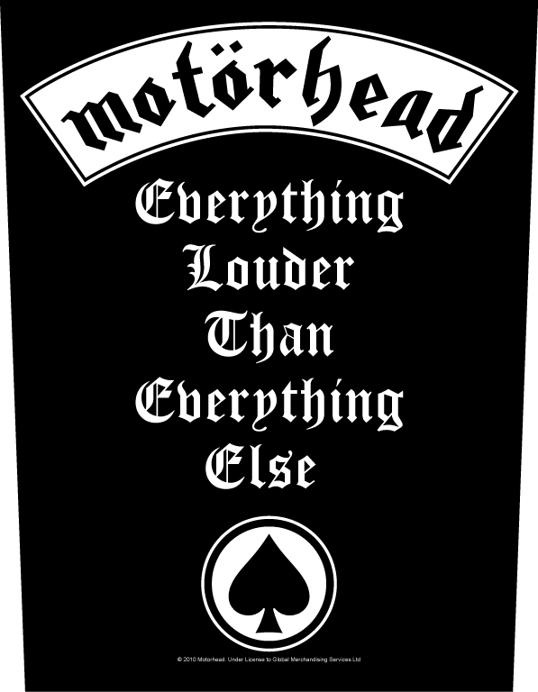 Motorhead Backpatch Everything Louder